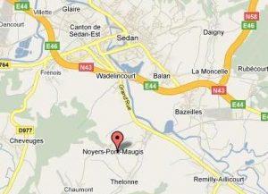 Noyers Pont Maugis kaart